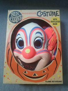 Vintage 1960's Ben Cooper Bozo the Clown Costume w/ original box #BenCooper #Halloween