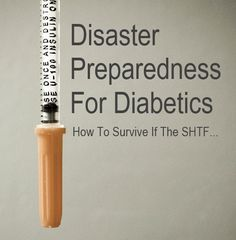 Disaster Preparedness For Diabetics, useful for an emergency especially if we happen to be with the in laws