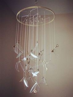 """A flying key mobile for anyone too young to go through a trap door. 
