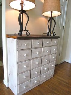 Apothecary console table made from pallets