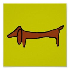 The Famous Dachshund Print by figstreetstudio