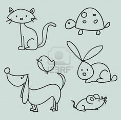 Hand Drawn Cartoon Pets Royalty Free Cliparts, Vectors, And Stock Illustration. Image 8929177.