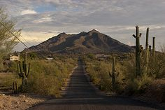 Black Mountain from the north side. Cave Creek, Arizona.