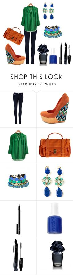 """""""to work :D"""" by magda-jed ❤ liked on Polyvore featuring Ted Baker, Charlotte Russe, Look From London, Proenza Schouler, Adia Kibur, Bounkit, NARS Cosmetics, Essie, Lancôme and Hollister Co."""