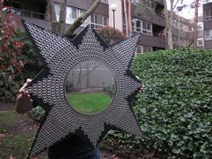 ... for a craft challenge on Craftster.org but have been thinking about a sunburst mirror for awhile. I also have a very substantial pop tab collection.