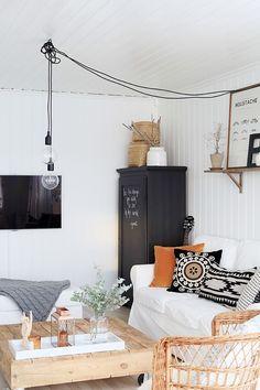 Un hogar nórdico genial y con detalles étnicos para encontrar la casa perfecta.