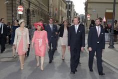 Closing of the Octave of Our Lady of Luxembourg, May 25, 2014-HGD Stephanie, GD Maria Teresa, Prince Felix, Princess Alexandra, GD Henri, HGD Guillaume