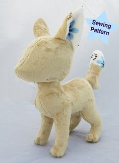 Instant Download Fox Canine Plushie Pattern