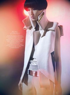 Model: Wang Xiao (Wilhelmina)  Editorial: Just My Type  Magazine: Surface Magazine, March/April 2012  Photographer: Henrique Gendre  Stylist: Gregory Wein  Hair: Deycke Heidorn  Makeup: Gianpaolo Ceciliato  Manicure: Anna-Maria