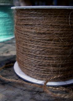 Brown  Jute Twine Cording 100 yds $5.49. Also for your polaroid guest book, they have other colors if you don't like the brown.