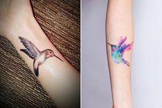 9-kolibri-tattoo-designs-unterarm-tätowieren-wasserfarben-tattoo-schwarz-graue-tätowierung-mit-vogel-motiv Pfau Tattoo, Adler Tattoo, Vogel Tattoo, Tattoo Schwarz, Neue Tattoos, Watercolor Tattoo, Tattoo Designs, Mini, Dove Tattoos