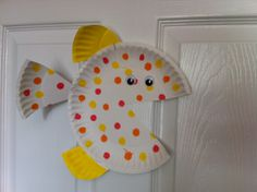 Ideas for Leo's birthday Paper Plate Fish, Paper Plate Crafts, Paper Plates, Polka Dot Paper, Fish Crafts, 4th Birthday, Back To School, Sites, Diy