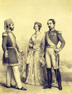 Sultan of the Ottoman Empire, Abdulmecid I; Queen of United Kingdom and Ireland, Victoria; and President of France, Napoleon III. Bnf, Ottoman Empire, Istanbul, Lamb, United Kingdom, Ireland, Victoria, The Unit, Europe