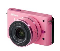 """Nikon 1 J1 Pink 1 - 10.1 MP HD - So excited!! This was my """"early"""" Christmas present and I can't wait to use it!! :) - 2013"""