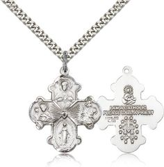 1 x Sterling Silver Medal. Comes as a ready-to-wear package with a silver chain and a premium keepsake jewelry box. Catholic gifts delivered to your door. This Catholic medal usually ships the next business Men Necklace, Initial Necklace, Catholic Jewelry, Necklace For Girlfriend, Girls Necklaces, Sterling Silver Pendants, Jewelery, Amethyst, Chain