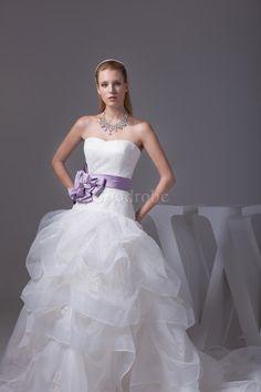Robe de mariée extraodinaire avec sans manches de bustier brodé multi couche - photo 6
