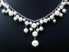 White Pearl Necklace womens #fashion #jewelry 2014 womens jewelry 2014