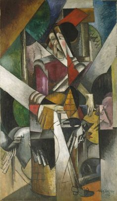 Woman with animals (Madame Raymond Duchamp-Villon) by Albert Gleizes, 1914, Guggenheim Museum Size: 196.4x114.1 cm Medium: Oil on canvas The Solomon R. Guggenheim Foundation Peggy Guggenheim Collection, Venice, 1976 © 2016 Artists Rights Society (ARS), New York/ADAGP, Paris https://www.guggenheim.org/artwork/1444