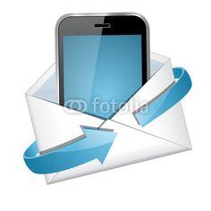 Vektor: phone letter