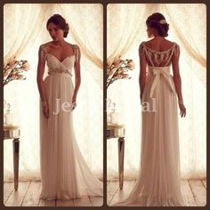 Hey, I found this really awesome Etsy listing at http://www.etsy.com/listing/164614071/beading-open-back-ivory-chiffon-wedding