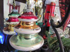 Hoe and Shovel: Favorite vintage ornaments.