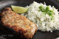 The lime zest gives these chops an extra zing. Adjust the seasoning to your liking. Make these in the broiler or on the grill. Serve this with cilantro lime rice on the side.    Garlic Lime Marinated Pork Chops Gina's Weight Watcher Recipes  Servings: 4 • Serving Size: 1 pork chop • Points +:5 pts • Smart Points: 5 Calories: 194.6 • Fat: 7.8 g • Protein: 27.7 g • Carb: 2.3 g • Fiber: 0.6 g • Sodium: 235.5 mg   Ingredients:   4 (6 oz each) lean boneless pork chops 4 cloves garlic, crushed 1…