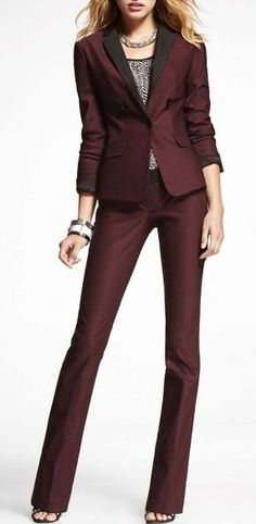 Twill Notched Contrasting Lapel Jacket at EXPRESS