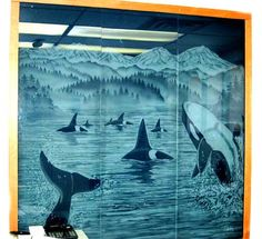 Commercial Installations – etched and sandblasted glass