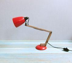 Red vintage desk lamp