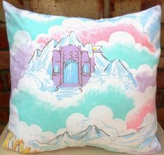 She-Ra Crystal Castle Rare Vintage Fabric Cushion Pillow He-Man – handmade by Alien Couture