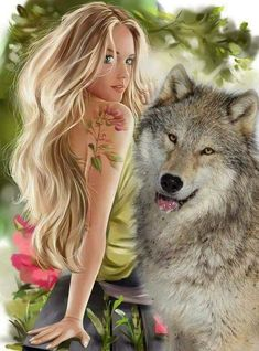 - The Next-Gen Social Network Fantasy Wolf, Fantasy Art Women, Beautiful Fantasy Art, Dark Fantasy Art, Wolf Photos, Wolf Pictures, Wolves And Women, Wolf Artwork, Wolf Spirit Animal