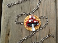 Sparkling Mushroom Pendant with Chain by ConstantMindJewelry, $12.99