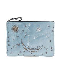 Mehry Mu - ÇANTA - Gri Mavi ❤ liked on Polyvore featuring bags, handbags, clutches, mavi, blue handbags, blue clutches and blue purse