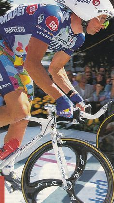 Tony Rominger. Tour De France 1996.  Please follow us @ http://www.pinterest.com/wocycling