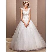 Ball Gown Sweetheart Tulle Floor-length Weddi... – USD $ 399.99