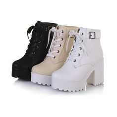 2016 Womens Chunky Heel Platform Lace-Up Punk Goth Creeper Ankle Boots Shoes 2016 Frauen Blockabsatz Plattform Lace-Up Punk Goth Creeper Stiefeletten Schuhe Platform Boots, High Heel Boots, Knee Boots, Heeled Boots, High Heels, Platform Wedge, Calf Boots, Strappy Heels, Lace Heels