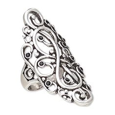 """Ring, Austrian crystal and antique silver-plated """"pewter"""" (zinc-based alloy), black, wide with vine design, size Sold individually. Diy Crafts How To Make, Vine Design, Austrian Crystal, Silver Color, Pewter, Antique Silver, Silver Plate, Jewelry Rings, Fashion Jewelry"""