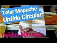 Telar Mapuche Urdido Circular [ Tejidos Minerva ] - YouTube Handmade Crafts, Youtube, Weaving, Panda, Origami, Textiles, Loom Knitting, Loom Knit, Knits