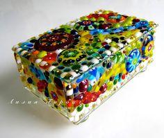 авторская работа, handmade, glass, стекло, фьюзинг, шкатулка, Лилия Горбач