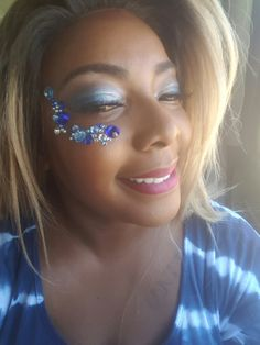 #makeup #blue #blackgirlmakeup