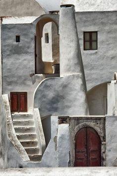 architecture vernaculaire, maison traditionnelle à Santorine: