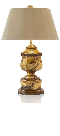 Luxury Designer High End Gold Chinese Art Table Lamp, For Prestigious Hotel  Residential Installations, one of over 3,000 limited production interior design inspirations inc, furniture, lighting, mirrors, home accents, accessories, decor and gift ideas to enjoy repin and share at InStyle Decor Beverly Hills Hollywood Luxury Home Decor enjoy  happy pinning