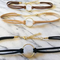 Gold+Ring+Choker+Black+Choker+with+Gold+Ring+Black+by+SunAndBack