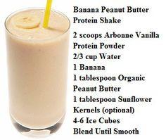 Arbonne Banana Peanut Butter Protein Shake! Vanilla protein shake powder at www.katiesloan.arbonneinternational.com Shop Australia, Canada, USA, UK and Poland with ID 613110992
