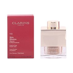 Clarins - Skin Illusion Mineral and Plant Extracts Loose Powder Foundation (With Brush) - no. 113 Chestnut - 13g/0.4oz *** Check out the image by visiting the link.