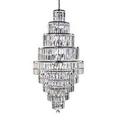 Empire is a spectacular, glittering 13 light tiered chandelier with stunning rectangular crystal prisms hanging symmetrically from a modern, chrome finish frame. Create a scintillating, jewellery-like effect with this impactful piece as the main feature i Crystal Ceiling Light, Chandelier Pendant Lights, Ceiling Lights, Ceiling Pendant Lights, Chrome Finish, Crystal Chandelier, Candle Bulbs, Chrome Chandeliers, Polished Chrome