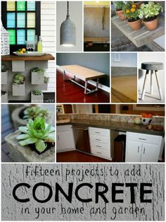 Creative Ideas to Use Concrete in Your Home or Garden | remodelaholic.com