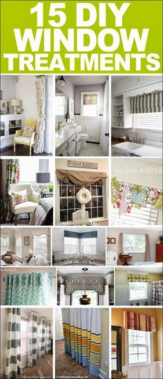 Best DIY Projects: 15 DIY window treatments