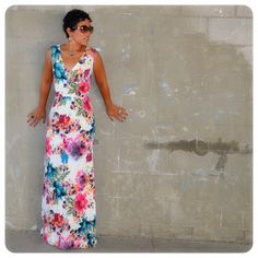 Fashion, Lifestyle, and DIY: DIY Watercolor Maxi + Another Take on New Look Pattern 6123