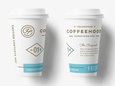 Discover more of the best Cup, Coffee, Packaging, and Design inspiration on Designspiration Coffee Packaging, Coffee Branding, Print Packaging, Paper Cup Design, Tassen Design, Coffee Cup Design, Logo Food, Packaging Design Inspiration, Identity Design